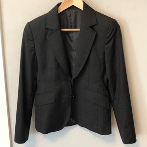 Tailored Gray 120s Wool 2-Button Blazer